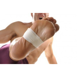 Rouleau bande blanc/blanche rigide adhésive de strapping strap sport