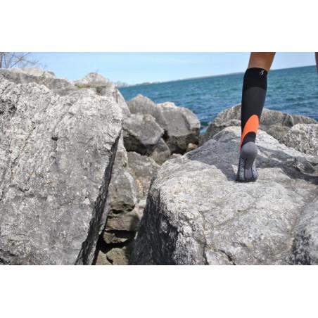 Chaussettes de compression Noire-Grise-Orange