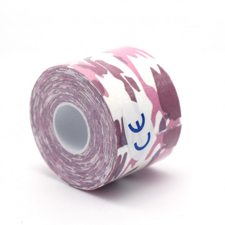 Rouleau Camouflage Rose Bande de Taping Tape Strapping Sport Kinésiologique