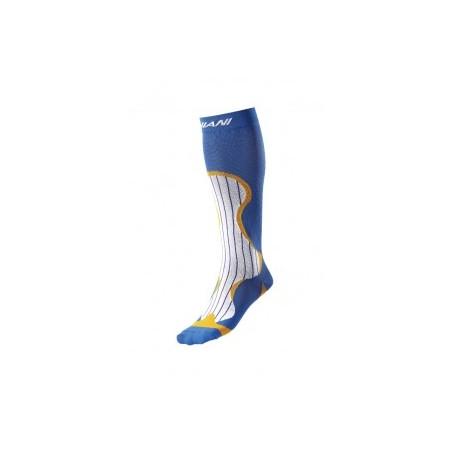 Chaussettes de compression Blanche-Orange-Bleu