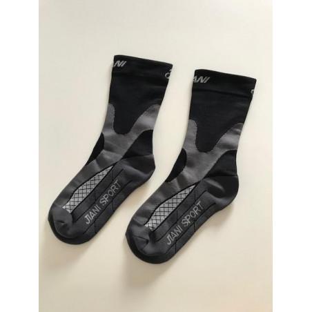 Chaussettes basses compression courtes Noire-Grise