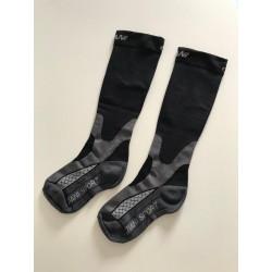 Chaussettes de compression Noire-Grise