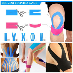 Rouleau Rose Bande de Taping Tape Strapping Sport Kinésiologique