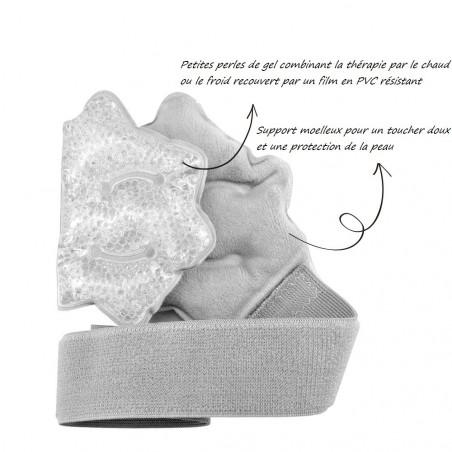 Poche de gel chaud / froid cheville - Compresse glace chevillère
