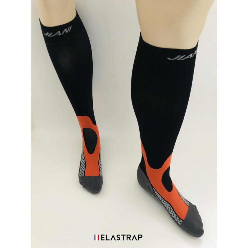 Seconde Peau Hommes et Femmes Marathon Trail l/ègeres Running Jiani Sport Footing Ultra resistantes Course /à Pied Crossfit elastrap Chaussettes de Compression Pieds et Mollets
